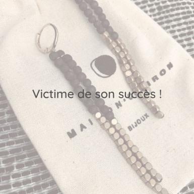 Joobee : Boucles d'oreilles pendantes perles bois Jarana de Maison Clairon