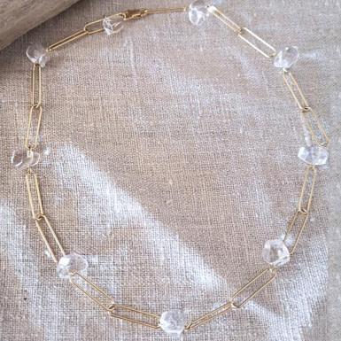 Joobee : collier cristal de roche Lili de Mai