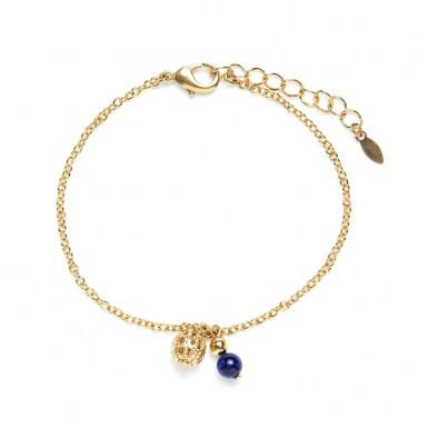 Joobee : Bracelet breloques lapis lazuli Donna