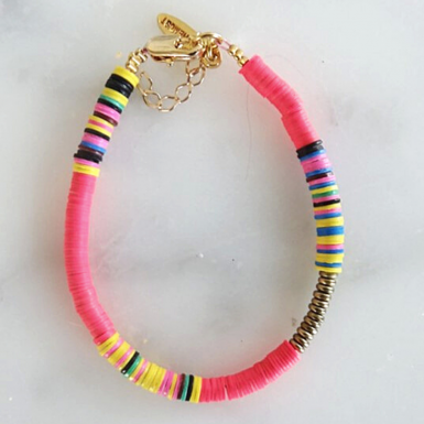 Joobee : bracelet Heishi rose de All The Must