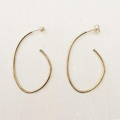 Joobee : Boucles d'oreilles créoles ovales Créola de Maison Clairon