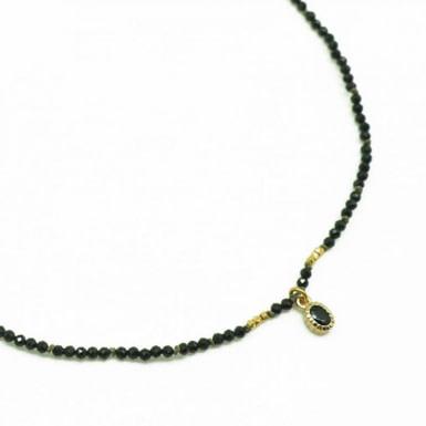 Joobee : collier pendentif onyx noir New Tiny de By Johanne