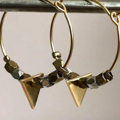 Joobee : boucles d'oreilles Delta de By Fleur de Jade