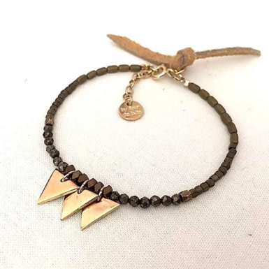 Joobee : bracelet perles pyrite Delta de By Fleur de Jade