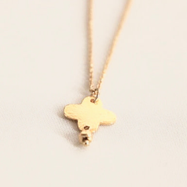 Joobee : collier pendentif croix Cruz Golden Night de Anna Sottilotta