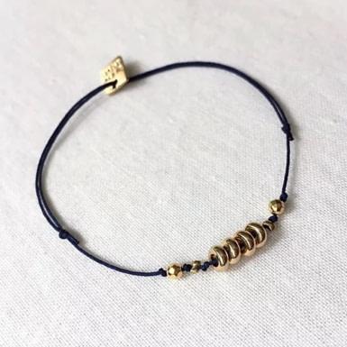 Joobee : bracelet cordon et perles Lia de By Fleur de Jade