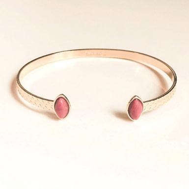 Joobee : bracelet jonc rhodonite Honolulu de Aurélie Joliff