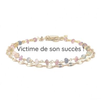 Joobee : bracelet tourmaline India double de Stella Mai