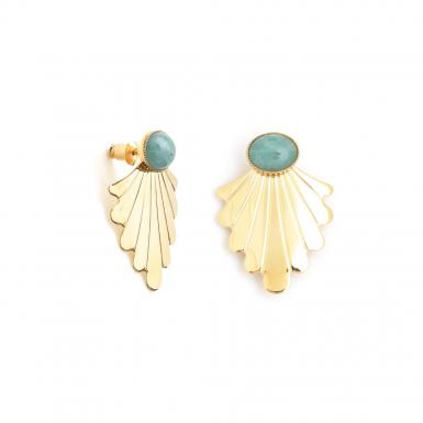 Joobee : Boucles d'oreilles amazonite Telline de Aurélie Joliff