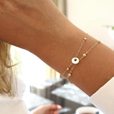Joobee : bracelet médaille porcelaine Faenza de Sissi 100Fils porté