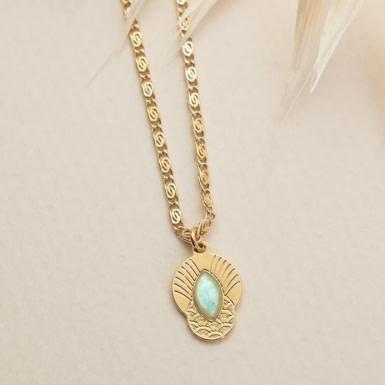 Joobee : collier amazonite Honolulu de Aurélie Joliff