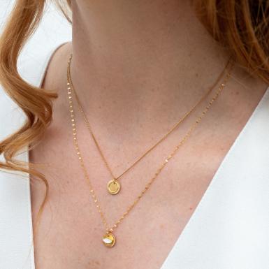 Joobee : collier double June de Constance L porté